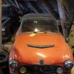 Oranje oude auto
