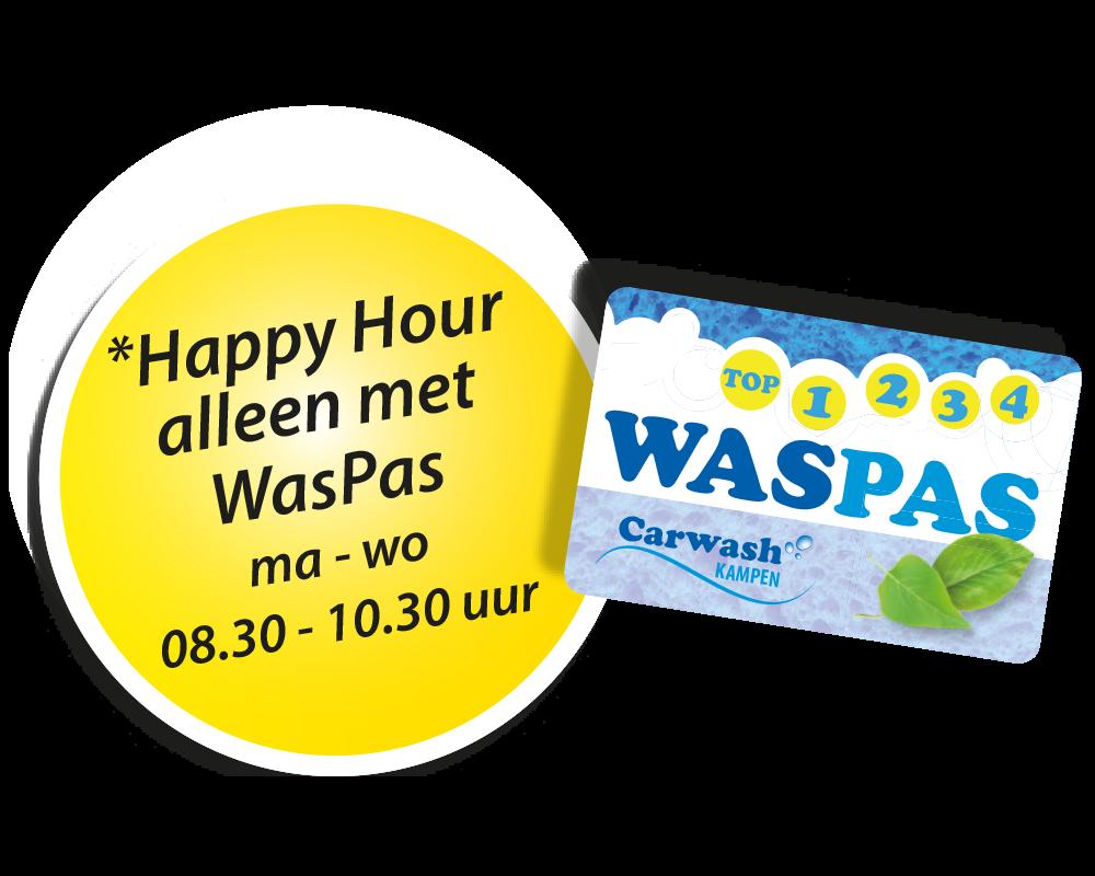 waspas met happy hour button